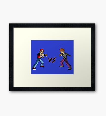 Red Vs Blue Framed Print
