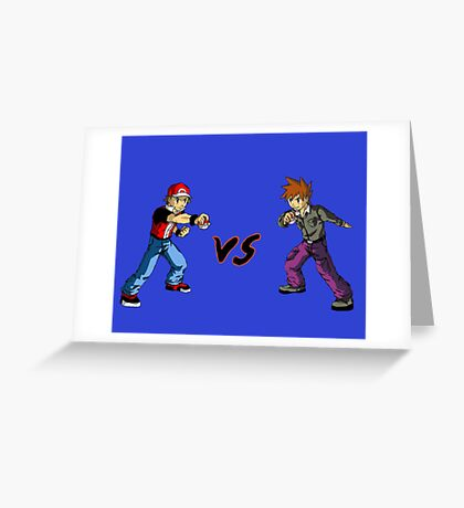 Red Vs Blue Greeting Card
