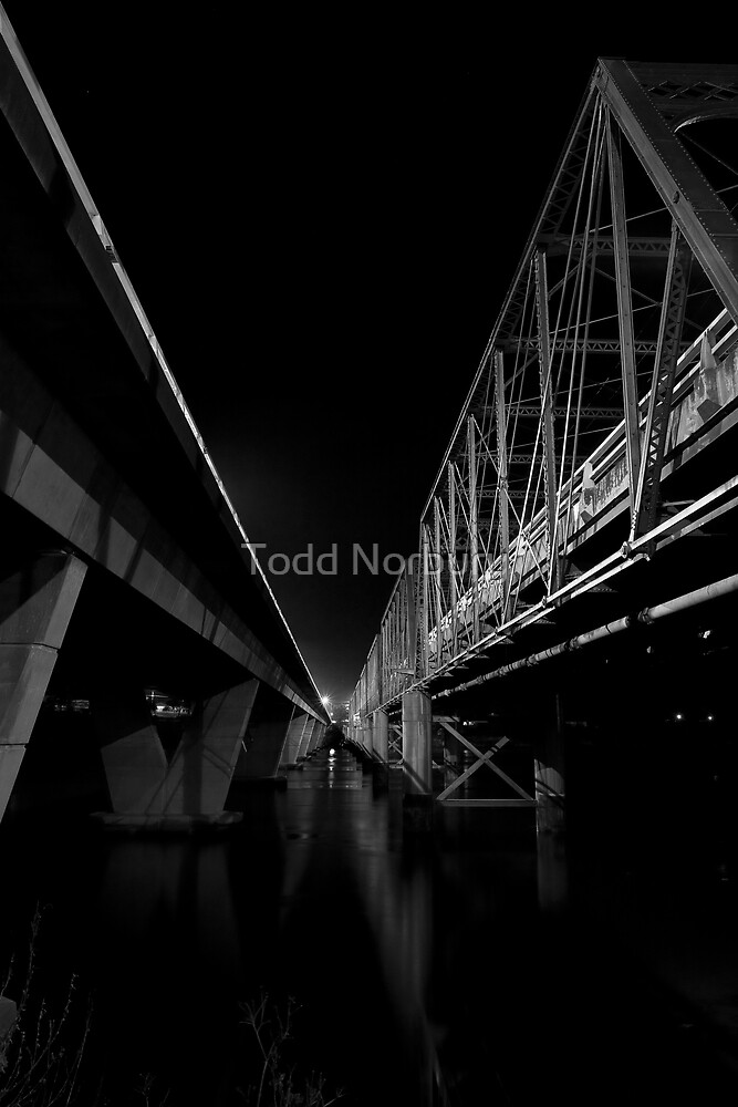 Twin Bridges, the not identical type.  :) by Todd Norbury