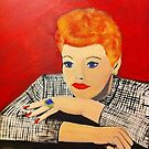 Lucille Ball painting by Melissa Goza