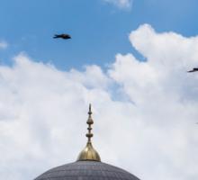 The Blue Mosque Minarets Sticker