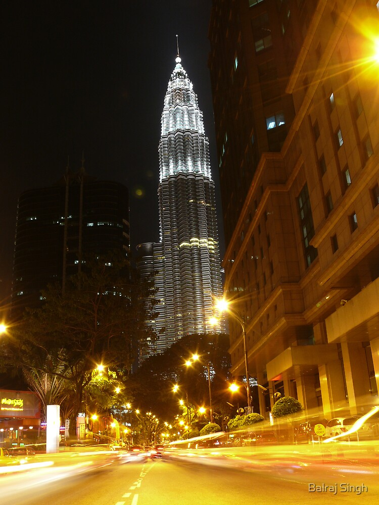 Petronas Towers from Near Concorde Hotel by Balraj Singh