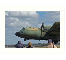 RAAF Hercules Landing Art Print