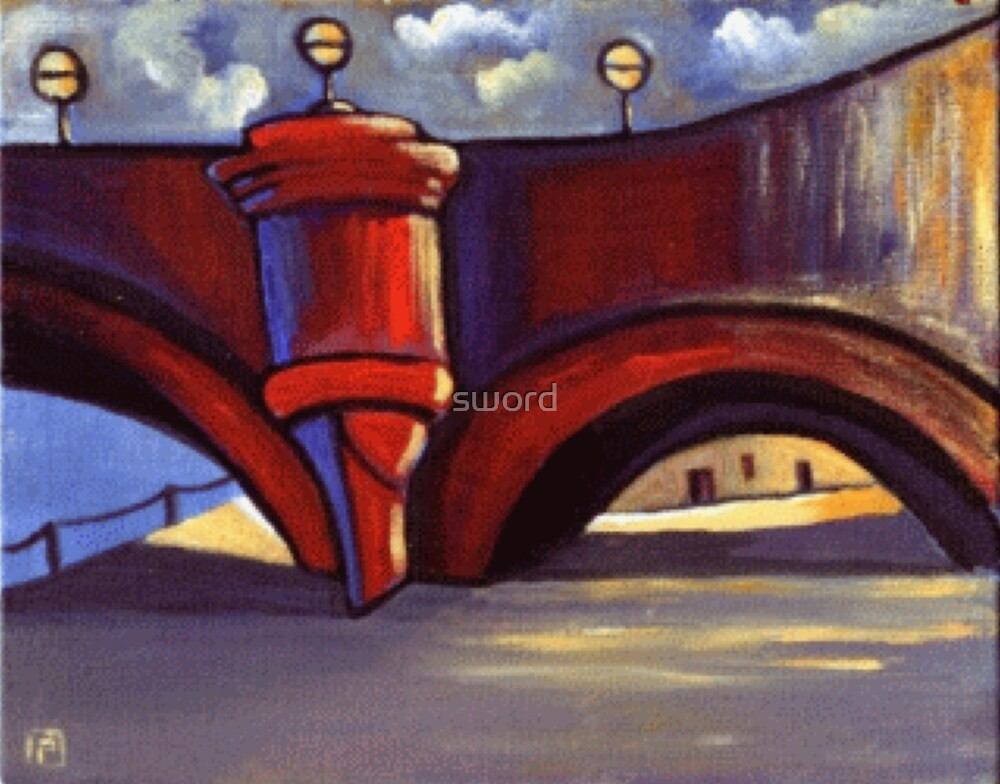 A bridge in Paris (from my original acrylic painting) by sword