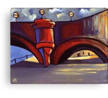 A bridge in Paris (from my original acrylic painting) Canvas Print