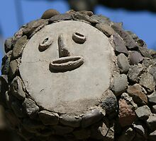 Human rock face from Chandigarh (India) Rock Garden by Balraj Singh