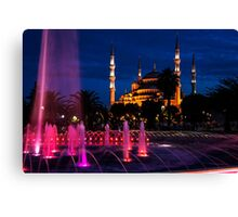 The Blue Mosque At Night Canvas Print