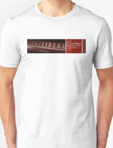 Airline On Black Unisex T-Shirt