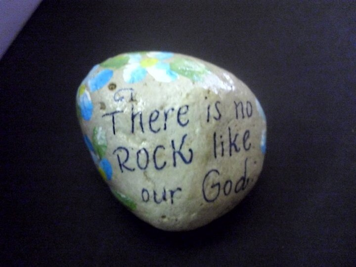 Hand painted rock by Melissa Goza