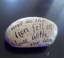 Hand painted rock with quote by Melissa Goza