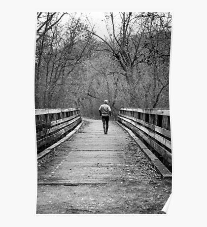 Runner on the Bridge Poster
