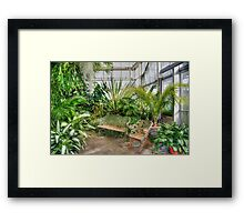 Come Sit With Me - Ott's Greenhouse Waterfall Room Framed Print