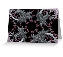 SILVER & PURPLE FRACTALS GIFTS / DECOR Greeting Card