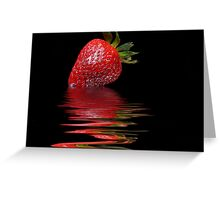 Strawberry Ripple Greeting Card