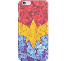 Captain Marvel Floral iPhone Case/Skin