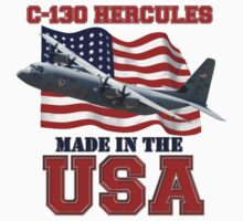 C-130 Hercules Made in the USA One Piece - Short Sleeve