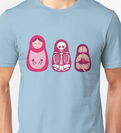 Inside out - Russian Matryoshka dolls Unisex T-Shirt