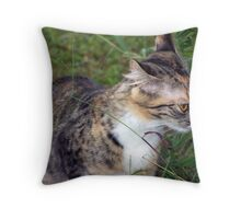take time to sniff the....weeds? Throw Pillow