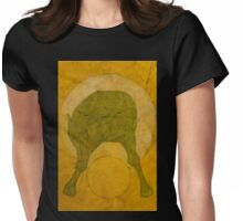 HORSE STRADDLING YELLOW BALL Womens Fitted T-Shirt