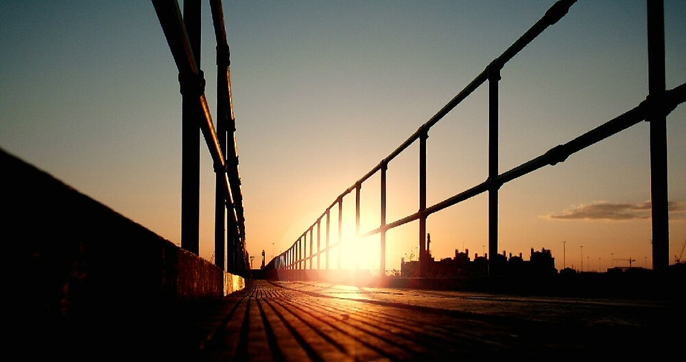 Boardwalk Sunset by Ian Lockwood