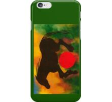 HORSE WITH RED BALL iPhone Case/Skin