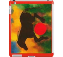 HORSE WITH RED BALL iPad Case/Skin