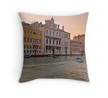 Sunset in Venice Throw Pillow