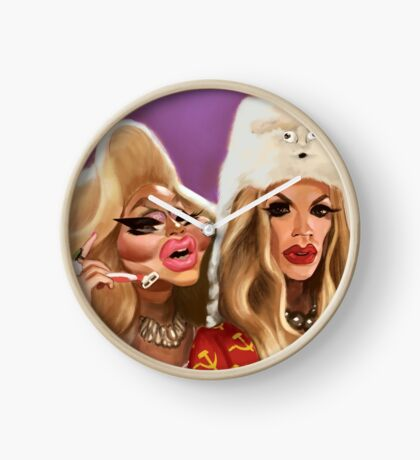Katya and Trixie Clock