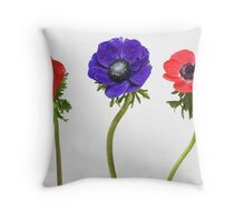 3 flowers Throw Pillow