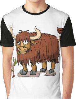 yak eating plant. Graphic T-Shirt