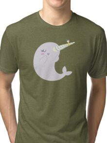 Engaged Narwhal Tri-blend T-Shirt