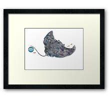 Nemos Loves Manta Rays Framed Print