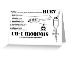 "Iroquois ""Huey"" Helicopter Greeting Card"