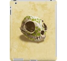 cat skull decorated with wasabi flowers iPad Case/Skin