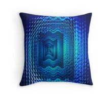 Blue feedback Throw Pillow