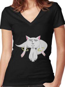 madoka magika Women's Fitted V-Neck T-Shirt