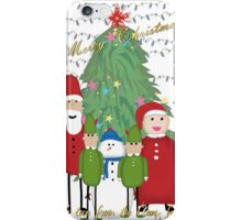 Merry Christmas from the Clauses iPhone Case/Skin