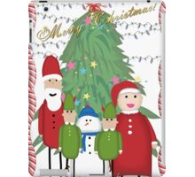 Merry Christmas from the Clauses iPad Case/Skin