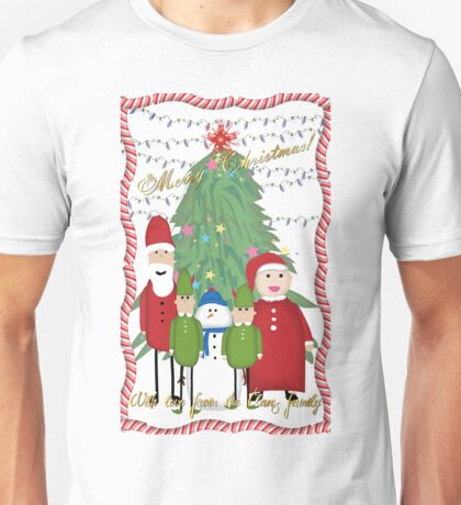 Merry Christmas from the Clauses Unisex T-Shirt