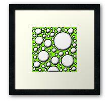 Green Mushroom Design  Framed Print