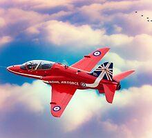 """RAF """"Red Arrows"""" Hawk by Chris Lord"""