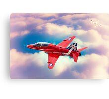 """RAF """"Red Arrows"""" Hawk Canvas Print"""