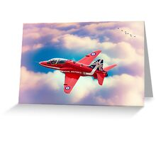 "RAF ""Red Arrows"" Hawk Greeting Card"
