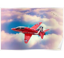 "RAF ""Red Arrows"" Hawk Poster"