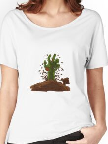 zombie hand coming out of the earth Women's Relaxed Fit T-Shirt