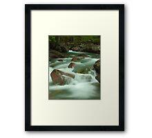 Avalanche Creek, Glacier NP Framed Print