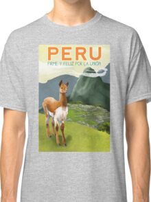Peru Travel Poster Classic T-Shirt