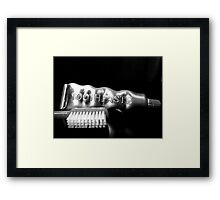 Tooth Paste Framed Print