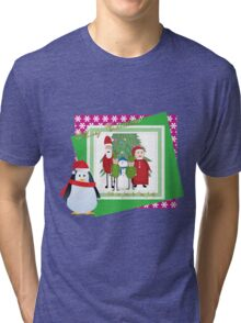 With Love from the Claus Family Tri-blend T-Shirt