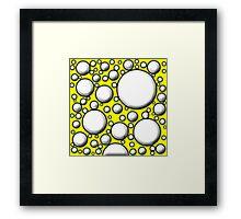 Yellow Mushroom Design Framed Print